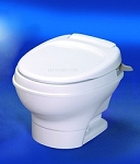 Thetford Aqua-Magic V Low Profile Hand Flush With Water Saver RV Toilet White