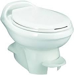 Thetford Aqua-Magic Style Plus Low Profile Without Water Saver RV Toilet White