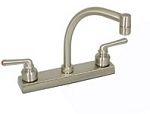 Two Handle Lavatory Faucet, Br. Nickel