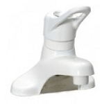 Single Handle Lavatory Faucet, No Lead white
