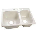 RV Sink - Double Acrylic Biscuit Sink