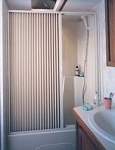 Rv Shower Door, Folding, White, 36