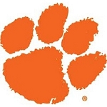 College Tire Cover, Clemson, Large, White