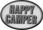 2 Inch Hitch Cover Happy Camper