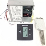 Dometic 3316232.010 LCD Touch Thermostat Cool Furnace Heat Strip with Control Kit Black