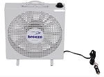 Fan-Tastic Vent Endless Breeze Portable Box Fan w/ Hanging Brackets - 12V - 3 Speeds - White