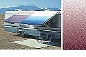Rv Awning Vinyl Canopy Replacement, 18 ft, Burgundy Fade