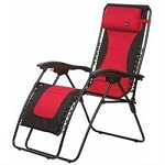 Chair, Recliner, 36-1/2 Inch Height x 26 Inch Width x 6-3/4 Inch Depth, 300 Pound Weight Capacity, Foldable, Red/ Black