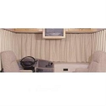 WINDOW SHADES RV Windshield Curtain, Beige, 130