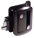 Travel Trailer Door Lock Black Powder Coat