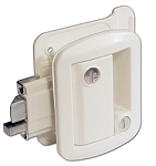 Travel Trailer Door Lock White Powder Coat