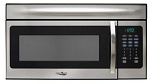 High Pointe 1.5 Cubic Foot Capacity, 900 To 1450 Watt Microwave, Stainless Steel