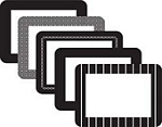 rv photo frames 4X6 Frame, Assorted 5Pk, Black peel and stick