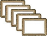 Peel and stick 6 Frame, 5pk, Gilded