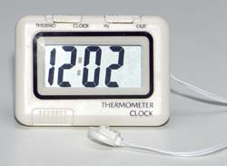 Outdoor/ Room Temperature Thermometer with Clock