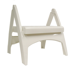 Quick Fold Step Stool White