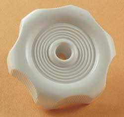 Window Knob White 1\2 inch Shaft