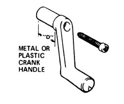 Window Crank Metal 1-3\4 inch