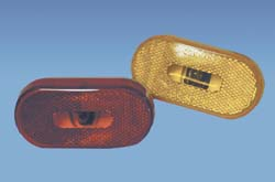 Oval Clearance Light Red