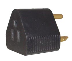 RV Electrical Adapter Plug - 15A Female-30A Male - Traingle