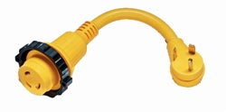 Molded RV Power Cord - 1'