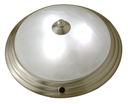 Glass Ceiling Light, Satin Nickel