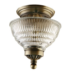 Ceiling Light, Antique Brass