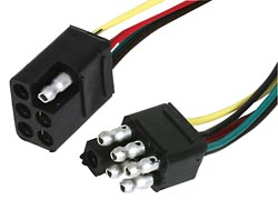 6-Way Square Trailer Connector