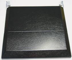 Rv Gas Range Bifold Cover Black