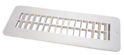 RV Floor Registers - Plastic  Polar White