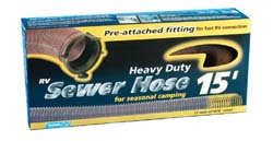Heavy Duty Sewer Hose, 15' w/adapter
