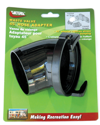45 degree Sewer Hose Adapter, Black