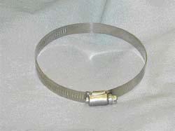 Hose Clamp, Stainless, 1/4