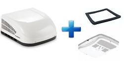 Dometic 15000 BTU Duo Therm Brisk II Air RV Air Conditioner Complete White