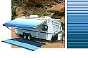 Rv Awning Vinyl Canopy Replacement, 15 ft, Ocean Blue