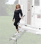 Step Hand Rail, Glow Step, Use With Any RV or Truck Camper Steps, Adjustable From 32 Inch to 53 Inch Length