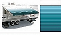 Rv Awning, Simplicity Plus Vinyl 10 ft, Teal (hardware not included)