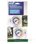 Thermometer Analog Fahrenheit/ Celsius for Both Interior And Exterior Temperature Window Mount; Set of 2