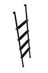 Stromberg Carlson Black Aluminum 5 Foot 4 Steps Ladder