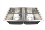 Lippert Components 27 Inch Width x 16 Inch Length x 7 Inch Depth Double Bowl Stainless Steel Sink