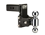 B&W Hitches Dual Ball 2 Inch and 2-5/16 Inch  Black Trailer Hitch Ball Mount