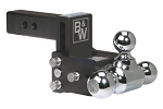 B&W Hitches Tri Ball-1-7/8 Inch And 2 Inch And 2-5/16 Inch Chrome Trailer Hitch Ball Mount