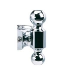 B&W Hitches  Pintle Ball 2 Inch Ball Chrome Steel Trailer Hitch Ball