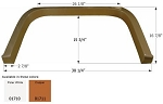 Icon Copper 38-1/4 Inch Length x 16-7/8 Inch Height Fender Skirt