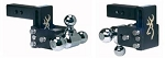B&W Hitches Tri Ball-1-7/8 Inch And 2 Inch And 2-5/16 Inch Black With Browning Logo Trailer Hitch Ball Mount
