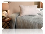 Pillow; Jumbo; 28 Inch x 20 Inch; Polyester Fiber Fill; Firm; 350 Thread Count Cotton Cover