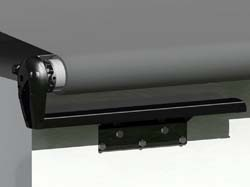 Carefree RV Slideout Cover Bracket and Hardware, Tall, Black