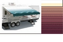 Simplicity Plus Vinyl Awning, 16 ft, Bordeaux (hardware not included)