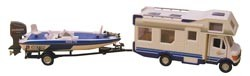 RV Die Cast Collectible Class C & Speed Boat
