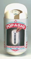 Pop-A-Bag Plastic Bag Dispenser White